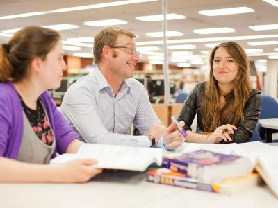 Students studying in the library. Photo credit: TAFE SA