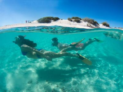 Snorkling on Rottnest Island. Photo credit: Tourism Western Australia