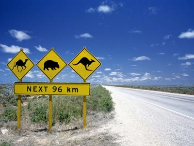 Australian road signs. Photo credit: Tourism Australia copyright.