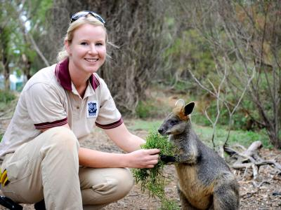 Introduce yourself to some unusual animals whilst studying in Australia.  Photo credit: William Angliss Institute.