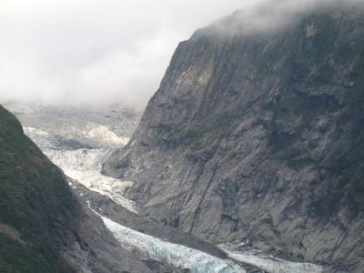 View of Franz Josef glacier.  Photo credit: Rhiannon Davies