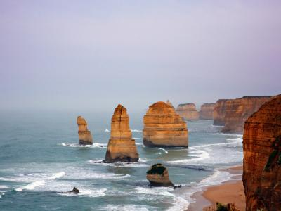 The Twelve Apostles, the Great Ocean Road.  Photo credit: Tourism Australia copyright.
