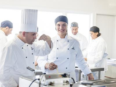 Cookery students at NZMA. Photo credit: NZMA