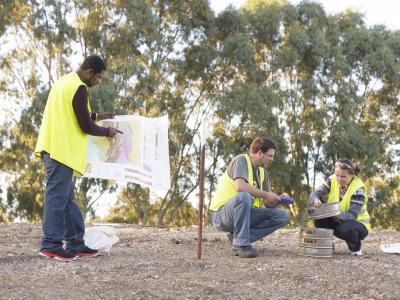 Mining Exploration students at TAFE SA. Photo credit: TAFE SA