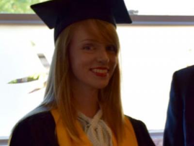 Jenny at her graduation