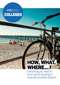Image of the front cover page of Study Options Colleges Guide