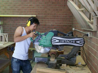 Learn the skills to work as a carpenter at Everthought Education. Photo credit: Everthought Education