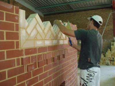 Bricklaying project. Photo credit: Silver Trowel Trade Training