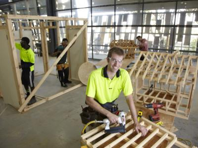 Study carpentry at TAFE WA. Photo credit: TAFE Western Australia