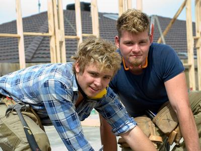 The Certificate III in Carpentry is a great start for a career in the building industry.  Photo credit: Holmesglen Institute