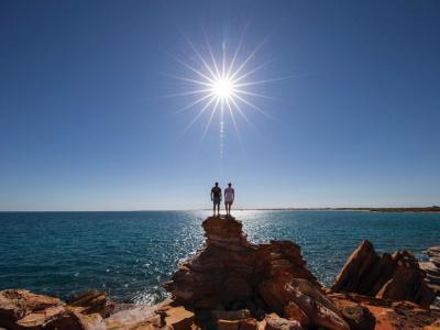 Enjoying the coastline in Northern Western Australia. Photo credit: Tourism WA