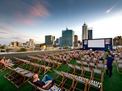 Rooftop cinema Perth. Photo credit: Tourism Western Australia