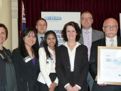 NMIT receives it's award. Photo credit: NMIT