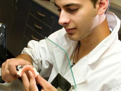 Dental technology and nursing can both be studied at a college.  Photo credit: Holmesglen Institute