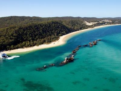 Tangalooma Wrecks. Photo credit: Brisbane Marketing
