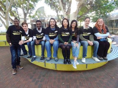 Faye (far right) and the team of international student mentors at Challenger Institute. Photo credit: Faye Hooper