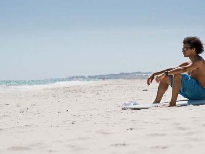 Nathanial on the beach